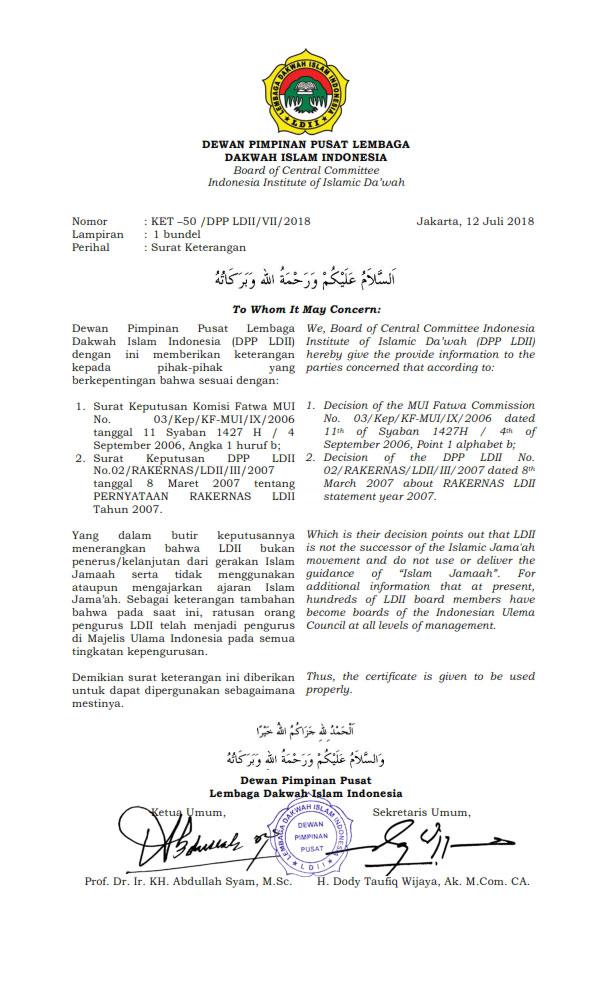 Fatwa MUI Tentang Lembaga Dakwah Islam Indonesia
